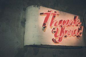 Jeg er takknemlig for at du tok turen innom!
