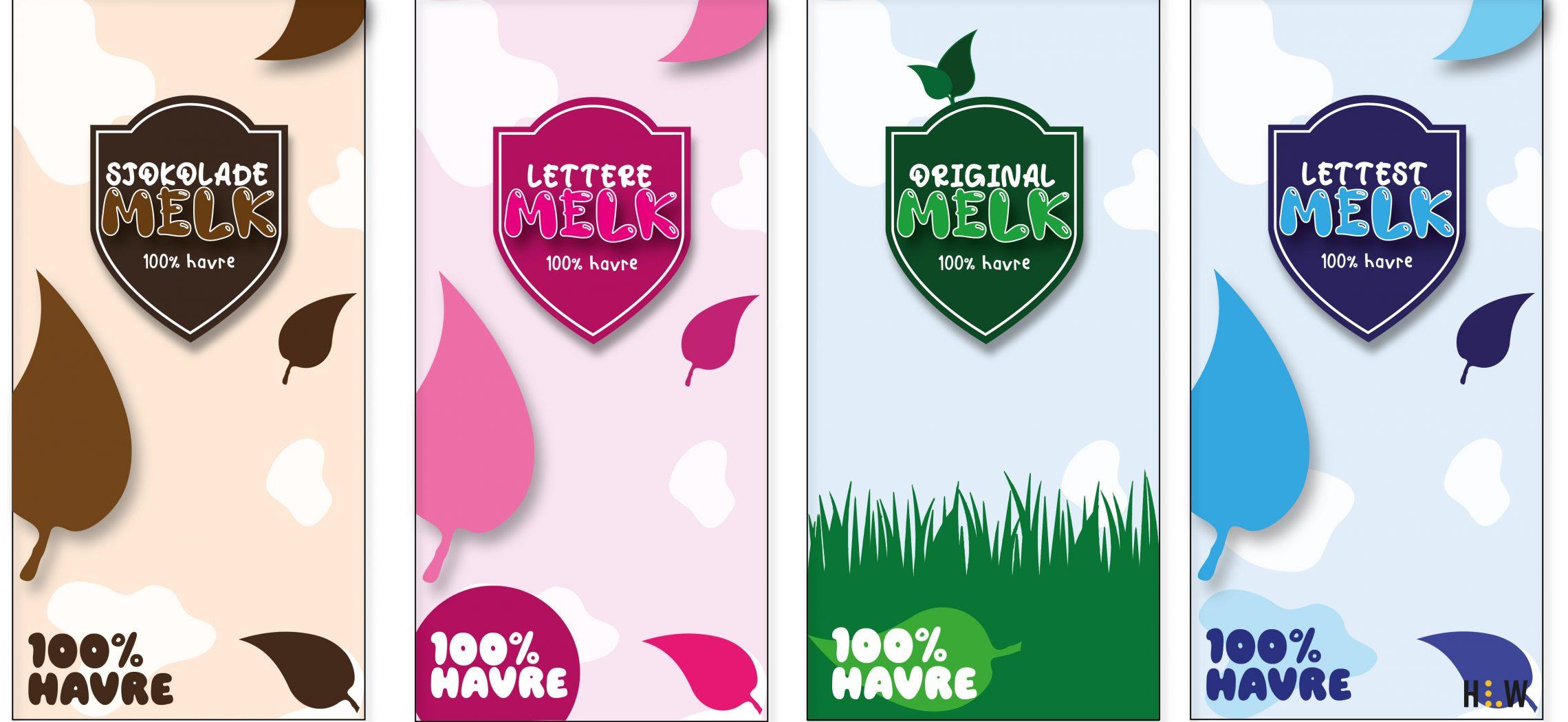 100% Havremelk Emballasjedesign